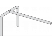 Rohrhalter (Flächenfüllung grau)